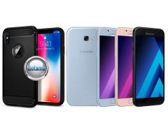 Siege dėklas nugarėlė Samsung Galaxy A5 (2017) mobiliesiems telefonams juodos spalvos