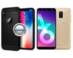 Siege dėklas nugarėlė Samsung Galaxy A6 (2018) mobiliesiems telefonams juodos spalvos