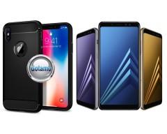 Siege dėklas nugarėlė Samsung Galaxy A8 (2018) mobiliesiems telefonams juodos spalvos