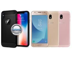 Siege dėklas nugarėlė Samsung Galaxy J3 (2017) mobiliesiems telefonams juodos spalvos