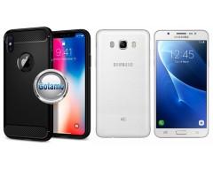 Siege dėklas nugarėlė Samsung Galaxy J5 (2016) mobiliesiems telefonams juodos spalvos