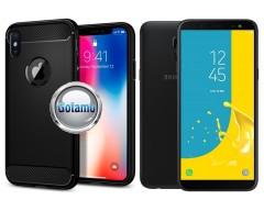 Siege dėklas nugarėlė Samsung Galaxy J6 (2018) mobiliesiems telefonams juodos spalvos