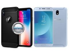 Siege dėklas nugarėlė Samsung Galaxy J7 (2017) J7 Pro mobiliesiems telefonams juodos spalvos