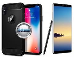 Siege dėklas nugarėlė Samsung Galaxy Note 8 mobiliesiems telefonams juodos spalvos