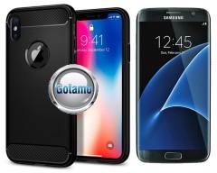 Siege dėklas nugarėlė Samsung Galaxy S7 edge mobiliesiems telefonams juodos spalvos