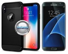 Siege dėklas nugarėlė Samsung Galaxy S7 mobiliesiems telefonams juodos spalvos