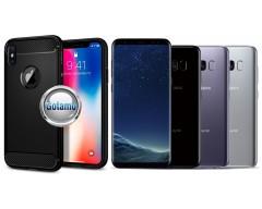Siege dėklas nugarėlė Samsung Galaxy S8 mobiliesiems telefonams juodos spalvos