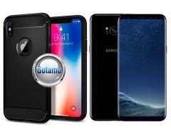 Siege dėklas nugarėlė Samsung Galaxy S8+ mobiliesiems telefonams juodos spalvos