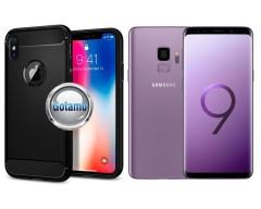 Siege dėklas nugarėlė Samsung Galaxy S9 mobiliesiems telefonams juodos spalvos