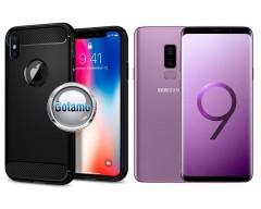 Siege dėklas nugarėlė Samsung Galaxy S9+ mobiliesiems telefonams juodos spalvos