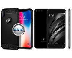 Siege dėklas nugarėlė Xiaomi Mi 6 mobiliesiems telefonams juodos spalvos