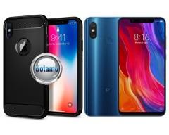 Siege dėklas nugarėlė Xiaomi Mi 8, Xiaomi Mi 8 Pro mobiliesiems telefonams juodos spalvos