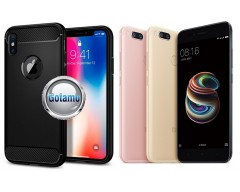 Siege dėklas nugarėlė Xiaomi Mi A1, Xiaomi Mi 5X mobiliesiems telefonams juodos spalvos