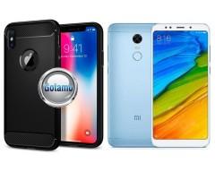 Siege dėklas nugarėlė Xiaomi Redmi 5 mobiliesiems telefonams juodos spalvos