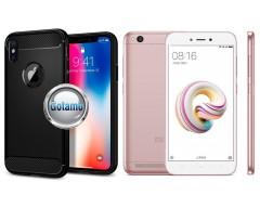 Siege dėklas nugarėlė Xiaomi Redmi 5A mobiliesiems telefonams juodos spalvos
