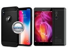 Siege dėklas nugarėlė Xiaomi Redmi Note 4, Xiaomi Redmi Note 4X mobiliesiems telefonams juodos spalvos