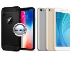 Siege dėklas nugarėlė Xiaomi Redmi Note 5A mobiliesiems telefonams juodos spalvos