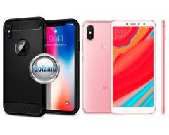 Siege dėklas nugarėlė Xiaomi Redmi S2 mobiliesiems telefonams juodos spalvos