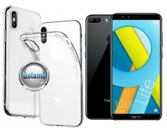 Skin silikoninis dėklas Huawei Honor 9 Lite telefonams