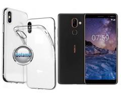 Skin silikoninis dėklas Nokia 7 Plus telefonams