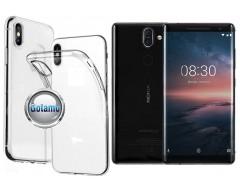 Skin silikoninis dėklas Nokia 8 Sirocco telefonams
