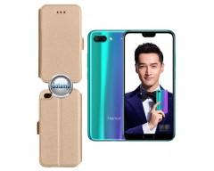 Slim Diary dėklas Huawei Honor 10 telefonams aukso spalvos