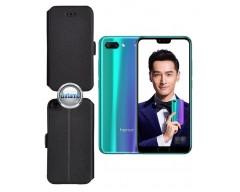Slim Diary dėklas Huawei Honor 10 telefonams juodos spalvos