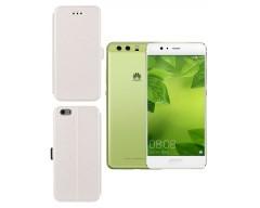 Slim Diary dėklas Huawei P10 Plus mobiliesiems telefonams baltos spalvos