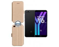 Slim Diary dėklas Huawei Y6 (2018) Huawei Honor 7A telefonams aukso spalvos