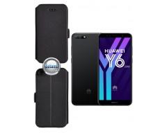 Slim Diary dėklas Huawei Y6 (2018) Huawei Honor 7A telefonams juodos spalvos