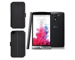 Slim Diary dėklas LG G3 S, LG G3 Beat mobiliesiems telefonams juodos spalvos