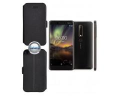 Slim Diary dėklas Nokia 7 telefonams juodos spalvos