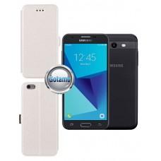 Slim Diary dėklas Samsung Galaxy J3 Prime J3 Emerge mobiliesiems telefonams baltos spalvos Vilnius | Palanga | Kaunas