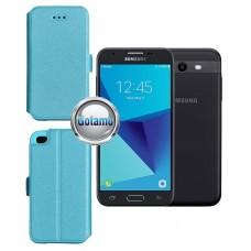 Slim Diary dėklas Samsung Galaxy J3 Prime J3 Emerge mobiliesiems telefonams žydros spalvos Kaunas | Kaunas | Šiauliai
