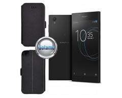 Slim Diary dėklas Sony Xperia L1 telefonams juodos spalvos