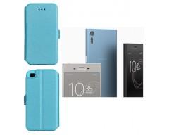 Slim Diary dėklas Sony Xperia XZ, Sony Xperia XZs mobiliesiems telefonams žydros spalvos