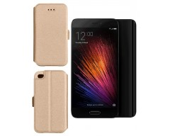 Slim Diary dėklas Xiaomi Mi 5 mobiliesiems telefonams aukso spalvos