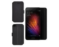 Slim Diary dėklas Xiaomi Mi 5 mobiliesiems telefonams juodos spalvos