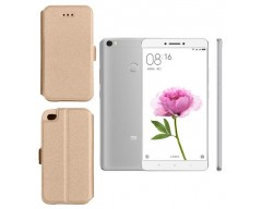 Slim Diary dėklas Xiaomi Mi Max mobiliesiems telefonams aukso spalvos