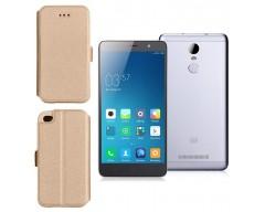 Slim Diary dėklas Xiaomi Redmi Note 3 mobiliesiems telefonams aukso spalvos