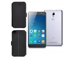 Slim Diary dėklas Xiaomi Redmi Note 3 mobiliesiems telefonams juodos spalvos