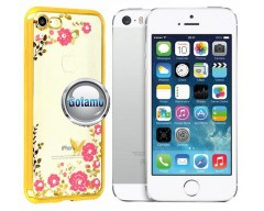 Spring dėklas nugarėlė Apple iPhone 5 5s SE telefonams aukso spalvos