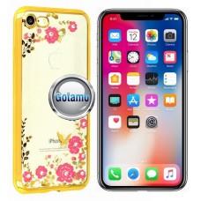 Spring dėklas nugarėlė Apple iPhone X Xs telefonams aukso spalvos
