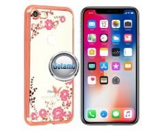 Spring dėklas nugarėlė Apple iPhone X Xs telefonams rožinės spalvos