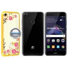 Spring dėklas nugarėlė Huawei P9 Lite (2017) telefonams aukso spalvos