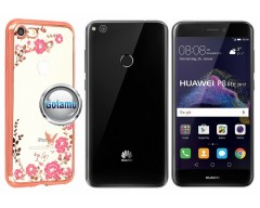Spring dėklas nugarėlė Huawei P9 Lite (2017) telefonams rožinės spalvos