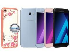Spring dėklas nugarėlė Samsung Galaxy A5 (2017) telefonams rožinės spalvos