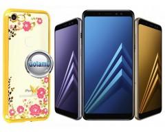 Spring dėklas nugarėlė Samsung Galaxy A8 (2018) telefonams aukso spalvos