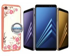 Spring dėklas nugarėlė Samsung Galaxy A8 (2018) telefonams rožinės spalvos