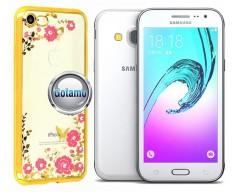 Spring dėklas nugarėlė Samsung Galaxy J3 (2016) telefonams aukso spalvos